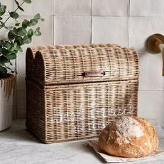 Where can you find the best bread in town? In the Best Bread In Town Bread Box of course! The bread drum of rattan has the shape of a bread and a white painting. Did the bread basket get a little dirty? Not a problem. Use a damp cloth to clean the basket. Handmade Furniture, New Furniture, Rattan, Bread Boxes, Upcycled Home Decor, Faux Bamboo, Colorful Garden, Shabby Chic Decor, Storage Baskets