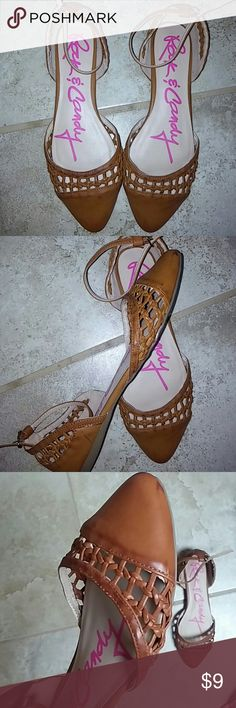 Rock and Candy Enclosed Cutout Flats Cognac Colored Adorable Flats, can be worn with Dresses and Jeans, Perfect Easy Shoe for just the Right Touch Rock & Candy Shoes Flats & Loafers
