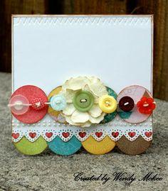Flower/Heart Card - very pretty
