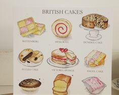 Salmon and mozzarella cake - Clean Eating Snacks British Cake, British Sweets, Eccles Cake, Jaffa Cake, Cake Illustration, Victoria Sponge, Angel Cake, Birthday Greeting Cards, Card Birthday