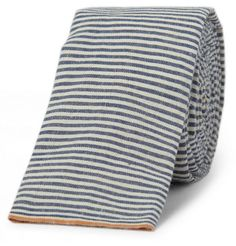 The Hill-Side Striped Cotton-Chambray Selvedge Tie | MR PORTER ($50-100) - Svpply