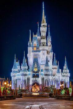 Cinderella's castle in Disneyland,  Florida
