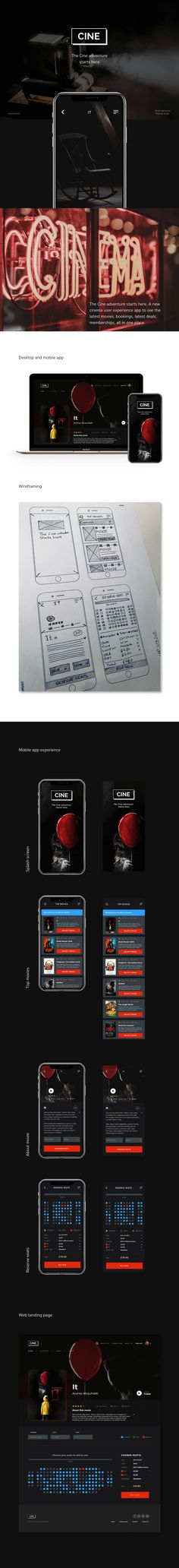 "다음 @Behance 프로젝트 확인: ""The Cine app. UX/UI #MadeWithAdobeXD"" https://www.behance.net/gallery/57746669/The-Cine-app-UXUI-MadeWithAdobeXD"