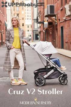 The UPPAbaby Cruz V2 Stroller offers a variety of trendy colors, including an extendable canopy with UPF 50+ protection, zip-out fabric, and mesh panels!