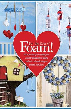 Hobby Lobby Project - For the Love of Foam! - foam, decor, mobile, wreath, holiday, holidays, Christmas, halloween, 4th, fourth, independenc...