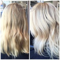 First time client had been doing base breaker with highlights .  That was leaving a peach yellow tone to it.  Color correction was full head of foils,  Toned mid shaft with a neutral tone to mute out peach tone.  Beige glaze to merry it together without being  ashy.  This took 3 hour.