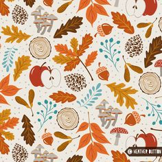 Getting ready for the best season of the year!! Oooh wee! I love every single thing about Fall :)  © Heather Dutton | Hang Tight Studio #spoonflower