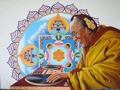 Remixed Religious Leader Paintings #art trendhunter.com