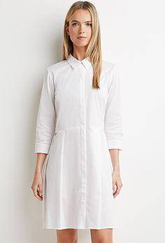 Pleated Shirt Dress   Forever 21 - 2000161758