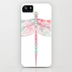 #Pastel #dragonfly #iPhone case by Sara Elan Donati [Saraelan illustration] on #society6