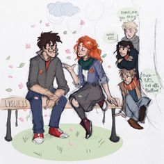 james, lily, and marauders