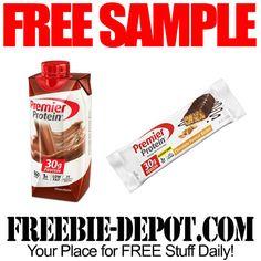 ►► FREE SAMPLE - Premier Protein Bar or Shake - Full Size Free Sample Giveaway ►► #Food, #Health ►► Freebie-Depot