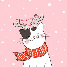 Draw cat with red Draw cat with red scarf in the snow for . - Draw cat with red Draw cat with red scarf in the snow for christmas and new year. Premium vectors T - Christmas Doodles, Christmas Drawing, Christmas Cats, Christmas And New Year, Merry Christmas, Vector Christmas, Hygge Christmas, Christmas Outfits, Weihnachten Vektor