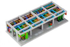 Multicolor 3-D printing can model complex MEP systems, as in this NRI model. Image Courtesy of NRI