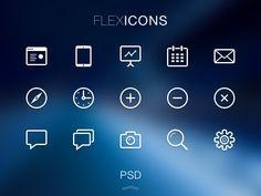 FlexIcons Free PSD