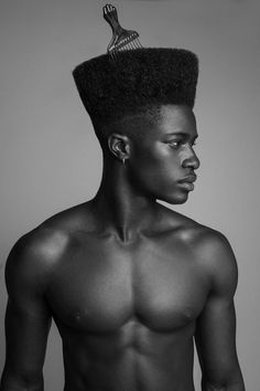 Dark Skin Models, Dark Skin Men, Black Models, Gorgeous Black Men, Beautiful Men, Black Power, Afro Men, Portrait Photography Men, Pelo Natural