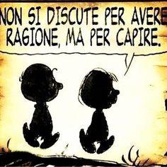 Image result for Charlie Brown discutere non è aver ragione ma sentire