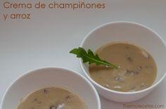 crema champis y arroz