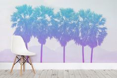 Tropical Vintage Filter Wall Mural