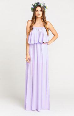 a194596b90a Hacienda Maxi Dress ~ Lilac Crisp