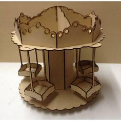 Porta Cupcakes O Caramelera Carrusel Calesita Mdf Laser - $ 435,00 Cardboard Crafts, Wood Crafts, Diy And Crafts, Arts And Crafts, Paper Crafts, Porta Cupcake, Candy Stand, Carousel Party, Laser Cutter Ideas
