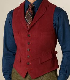 Paul Stuart - Cotton Moleskin Lapel Vest