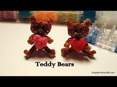▶ Rainbow Loom Teddy Bear Charm - How to - YouTube