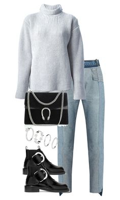 """""""Untitled #3504"""" by theeuropeancloset ❤ liked on Polyvore featuring Vetements, Rochas, Maison Margiela and Gucci"""