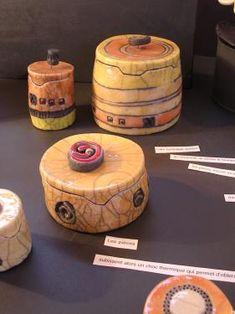 Ceramic Boxes, Ceramic Jars, Ceramic Clay, Raku Pottery, Pottery Art, Clay Box, Keramik Vase, Clay Design, Paperclay