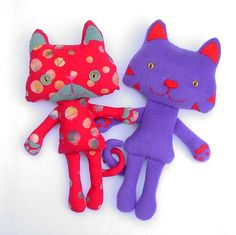 Spodge The Ragdoll Cat - Red Spotty Soft Toy - Cuddly Cute Plush Kitty