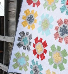 Spin Cycle quilt - made with large squares.