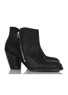 Boots Cuir Noir La Fee Maraboutee