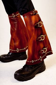 Steampunk Leather Leg Warmers by MisfitLeather on Etsy, $165.00