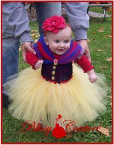 Snow White Tutu Dress Halloween Costume by www.BlissyCouture.com