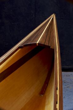 Hand made Ella Camp HF Canoe crafted by Michele from Offerman Woodshop. Nomad plans designed for Ron Frenette by Ted Moores. Made in USA. Wood Canoe, Canoe Boat, Kayak Boats, Canoe And Kayak, Fishing Boats, Boat Dock, Wooden Boat Building, Wooden Boat Plans, Canoe Plans