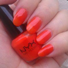 Papaya by NYX  #nyx #nyxcosmetics #nailpolishswatch #swatch #nails