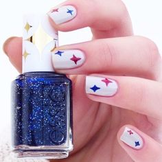 bets on diamonds and the 'starry starry night' -- iconic shades promise a sparkling night. Nail Care, Essie, My Nails, Nail Art Designs, Manicure, Nail Polish, Sparkle, Shades, Retro