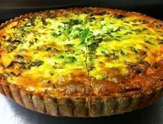 Quiche is not a good word. In smarter cafes than ours the same thing is renamed 'tart'. But when we tried calling it, for instance, a 'roast pepper and goat's cheese tart' then customers would point at it on the counter and say 'do you… Quiche Pastry, Cheese Quiche, How To Make Quiche, Making Quiche, Egg And Bacon Pie, Salmon Quiche, Fish And Meat, South African Recipes, Best Food Ever