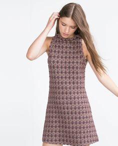 JACQUARD MINI DRESS - View all - Dresses - WOMAN | ZARA United Kingdom