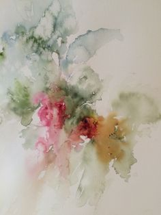 Camellia beginning in watercolor by ardyth hearon drawing ак Watercolor Artists, Abstract Watercolor, Watercolor Illustration, Abstract Flowers, Watercolour Painting, Watercolor Flowers, Painting & Drawing, Watercolors, Alcohol Ink Art