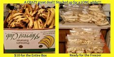6/28 We love bananas here. We will use our stock for Banana Bread, Muffins, Smoothies, Yonanas, and so much more!! #bananasyum, #greatdeal, #moneysaving, #freezer, #yonanas, #healthy
