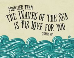 ♥Welcome to Seeds of Faith!♥ Mightier than the waves of the Sea is His love Psalm 93:4 Check out our matching set: