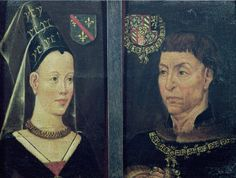 Isabella of Bourbon and Charles the Bold his second wife. Their heir is Mary of Burgandy who becomes the step daughter of Elizabeth of York, sister of Edward IV, George of Lancaster and Richard III