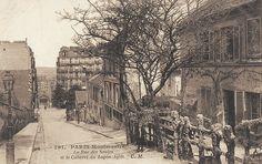 rue des Saules vers 1900 A droite, le Lapin Agile