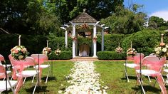 Aisle before the wedding