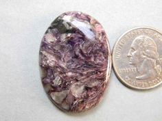 37x26 mm Charoite Oval Shape Gemstone Pendant Jewelry by KGNSHOP