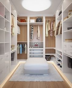14 Walk In Closet Designs For Luxury Homes This is the one! Walk In Closet Design, Bedroom Closet Design, Master Bedroom Closet, Closet Designs, Bedroom Decor, Master Room Design, Wardrobe Room, White Wardrobe Closet, Closet Office