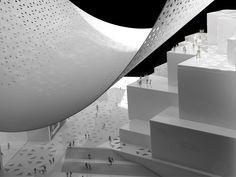 bjarke ingels group big qatar media headquarters designboom