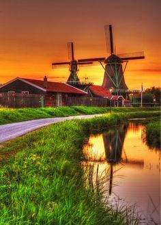 Typisch Hollands landschap. https://www.hotelkamerveiling.nl