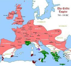 Map of Celtic Tribes in Europe-Celtic mythology